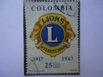 Stamps Colombia -  LIONS - International 1917-1967