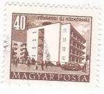 Sellos del Mundo : Europa : Hungría : Edificio  en Fovarosi uj Kozkorhaz