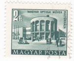 Stamps : Europe : Hungary :  Edificio Optikai Muyek Kulturhaza