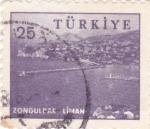 Sellos de Asia - Turquía -  Vista de Zonguldak Liman