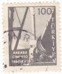 Stamps Turkey -  Fábrica de Cemento en Ankara