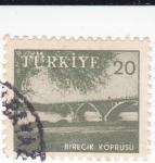 Sellos de Europa - Turquía -  puente-Birecik Koprusu