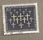 Stamps Germany -  50 Aniversario Guerra