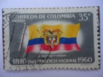 Stamps Colombia -  1810-Independencia Nacional-1960