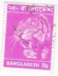 Sellos del Mundo : Asia : Bangladesh : Tigre de Bengala