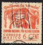 Sellos de America - México -  CAMPAÑA NACIONAL PRO ALFABETIZACIÓN.