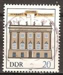 Sellos de Europa - Alemania -  175 años de la Universidad Humboldt de Berlín-DDR.