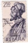 Sellos de Europa - España -  Vasco Nuñez de Balboa -Forjadores de América (U)