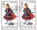 Stamps Spain -  CACERES -Trajes típicos españoles (U)