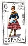 Stamps Spain -  CASTELLÓN DE LA PLANA-Trajes típicos españoles (U)