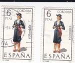 Sellos de Europa - España -  CORDOBA -Trajes típicos españoles (U)