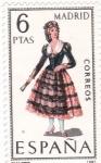 Stamps Spain -  MADRID -Trajes típicos españoles (U)