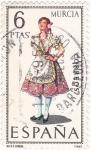 Stamps Spain -  MURCIA -Trajes típicos españoles (U)