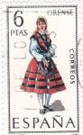 Sellos de Europa - España -  ORENSE -Trajes típicos españoles (U)
