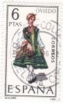 Stamps Spain -  OVIEDO-Trajes típicos españoles (U)