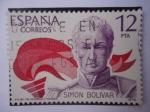 Sellos de Europa - España -  SIMÓN BOLÍVAR