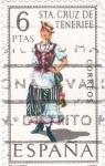 Stamps Spain -  SANTA CRUZ DE TENERIFE -Trajes típicos españoles (U)