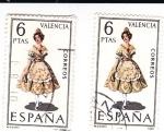 Sellos de Europa - España -  VALENCIA -Trajes típicos españoles (U)