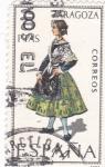 Stamps Spain -  ZARAGOZA -Trajes típicos españoles (U)