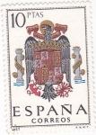 Sellos de Europa - España -  Escudo de España     (U)
