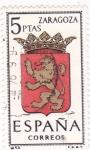 Stamps Spain -  ZARAGOZA - Escudos de las capitales de provincia españolas (U)