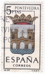 Stamps Spain -  PONTEVEDRA - Escudos de las capitales de provincia españolas (U)