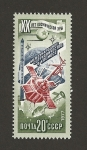 Stamps Russia -  Cooperación internacional para exploración espacio