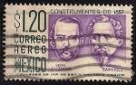 Stamps Mexico -  CENTENARIO DE LA CONSTITUCIÓN 1857. León Guzmán y Ignacio Ramírez.