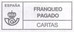 Stamps Europe - Spain -  Franqueo Pagado - CARTAS