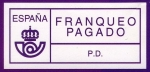 Stamps Europe - Spain -  Franqueo Pagado - P.D.
