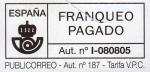 Stamps : Europe : Spain :  Franqueo Pagado.   Aut nº I-080805