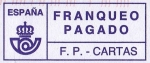 Stamps Europe - Spain -  Franqueo Pagado. F.P. - CARTAS