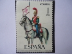 Stamps Spain -  Ed.2381 (Nº31)- Uniformes Militares- Batidor Caball. Lanceros Calatrava 1844