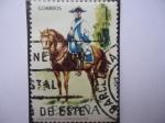 Stamps Spain -  Ed:2277- (Nº21)-Uniformes Militares- Regimiento de Montesa 1788