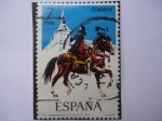 Sellos de Europa - España -  Ed:2142 (Nº4)- Uniformes Militares- Herreruelo o Pistolete 1560