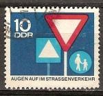Sellos de Europa - Alemania -  ojos abiertos en el tr�fico por carretera-DDR