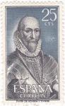 Stamps Spain -  ALVARO DE BAZÁN - Personajes españoles  (U)