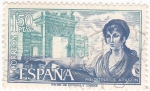 Sellos de Europa - España -  AGUSTINA DE ARAGÓN- Personajes españoles  (U)