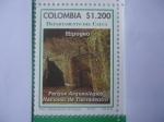 Stamps America - Colombia -  Departamento del Cauca- Hipogeo-Parque Arqueológico Nacional de Tierradentro -(10/12)