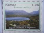 Stamps Colombia -  Departamento del Cauca - Macizo Colombiano-Laguna grande de la Magdalena (5/12)