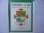 Stamps Colombia -  Departamento del Cauca- Heráldica (1/12)