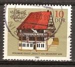 Sellos de Europa - Alemania -  Ayuntamientos históricos -Stolberg (Harz),construido 1482 renovado 1600-DDR.
