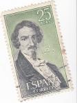 Stamps Spain -  JOSÉ DE ESPRONCEDA - Personajes españoles  (U)