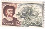 Stamps Spain -  JUAN SEBASTIAN ELCANO- Personajes españoles  (U)