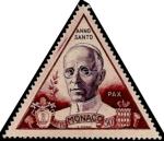 Stamps of the world : Monaco :  Papa Pio XII