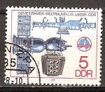 Sellos de Europa - Alemania -  Conjunto vuelo espacial URSS - DDR.