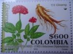 Sellos de America - Colombia -  GINSENG - 50 Aniversario Colombia - Corea- Relaciones Diplomáticas.(2/2)