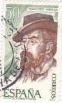 Stamps Spain -  FRANCISCO TÁRREGA- Personajes españoles  (U)
