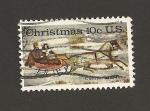 Stamps United States -  Navidad 1974