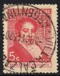 Sellos de America - Argentina -  Centenario. de la muerte de Bernardino Rivadavia, 1º presidente de la Argentina.